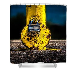 Padlock Number Two Shower Curtain by Bob Orsillo