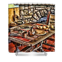 Padre's Table By Diana Sainz Shower Curtain