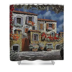 Paesaggio Al Chiar Di Luna Shower Curtain by Guido Borelli