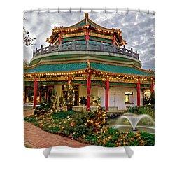 Pagoda In Norfolk Virginia Shower Curtain