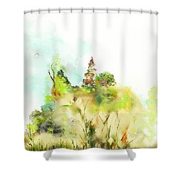 Pagoda Shower Curtain by Len YewHeng