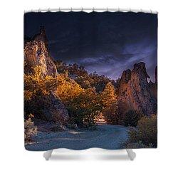 Pahrump - Road To Wheeler Peak Shower Curtain