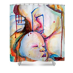 Painful Joy Shower Curtain by Janet Garcia