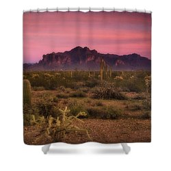 Paint It Pink Sunset  Shower Curtain by Saija  Lehtonen