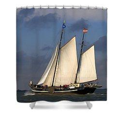 Paint Sail Shower Curtain