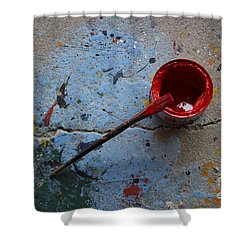 Paint The Town Red Shower Curtain