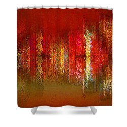 Paint The Town Red Shower Curtain by Stuart Turnbull