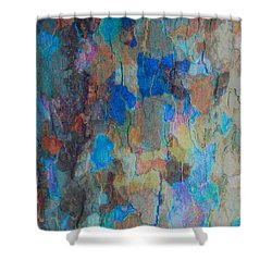Painted Bark Shower Curtain by Stephanie Grant