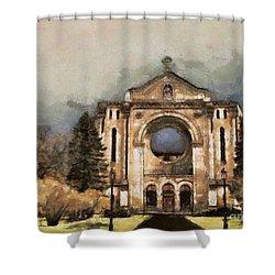 Painted Basilica Shower Curtain by Teresa Zieba