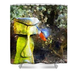 Painted Bullfinch S3 Shower Curtain
