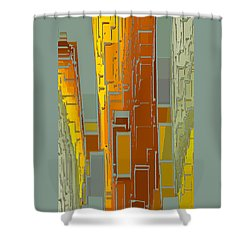 Painted City - Fantasy Cityscape Shower Curtain by Ben and Raisa Gertsberg