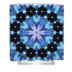 Painted Cymatics 108.00hz Shower Curtain