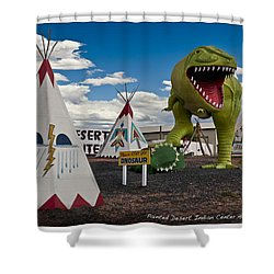 Painted Desert Indian Center  Shower Curtain by Gary Warnimont