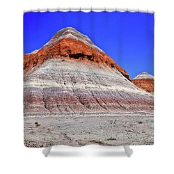 Shower Curtain featuring the photograph Painted Desert National Park by Bob and Nadine Johnston
