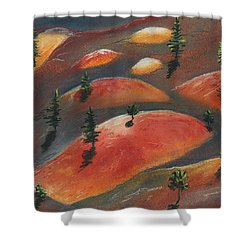 Painted Dunes Shower Curtain by Anastasiya Malakhova