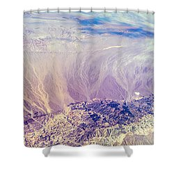 Painted Earth I Shower Curtain by Jenny Rainbow