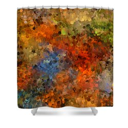 Painted Fall Abstract Shower Curtain by Andrea Auletta