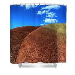 Painted Hills Blue Sky 2 Shower Curtain by Bob Christopher