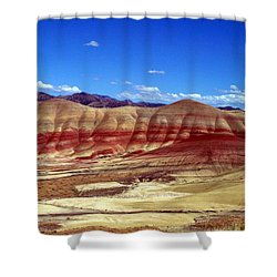Painted Hills Shower Curtain by Chalet Roome-Rigdon