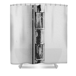 Painted Hinge In Black And White Shower Curtain by Rob Hans