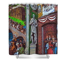 Painted History 1 Shower Curtain by Joann Vitali
