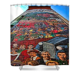 Painted History 3 Shower Curtain by Joann Vitali