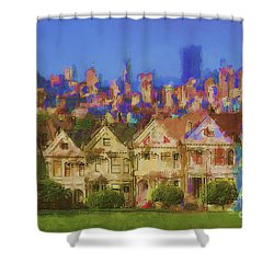 Painted Ladies Shower Curtain by Andrea Auletta