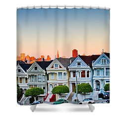 Painted Ladies Shower Curtain by Bill Gallagher