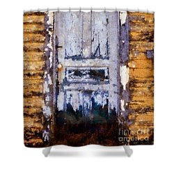 Painted Past - Old House Door Shower Curtain