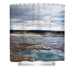 Paint Pots Shower Curtain by Belinda Greb