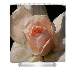 Painted Rose Shower Curtain by Lois Bryan