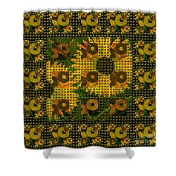 Painted Sunflower Abstract Shower Curtain