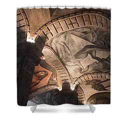 Shower Curtain featuring the photograph Painted Vaults by Lynn Palmer