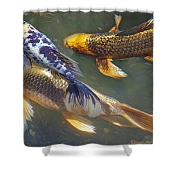 Painterly Fishpond Shower Curtain by Adria Trail