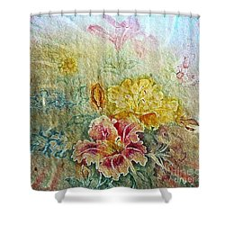 Painterly Floral Shower Curtain