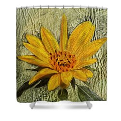 Painterly Sunflower Shower Curtain