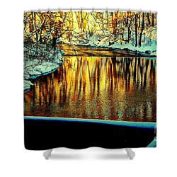 Painter's Box Shower Curtain by Tami Quigley