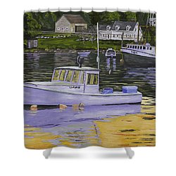 Fishing Boats In Port Clyde Maine Shower Curtain by Keith Webber Jr