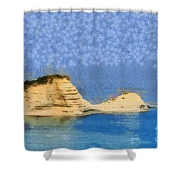 Islet In Peroulades Area Shower Curtain