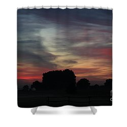 Painting Sunrise By Nature Shower Curtain