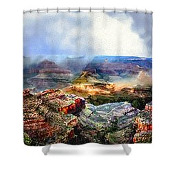 Painting The Grand Canyon Shower Curtain by Bob and Nadine Johnston