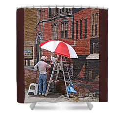 Painting The Past Shower Curtain by Ann Horn