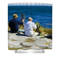 Painting The View Shower Curtain