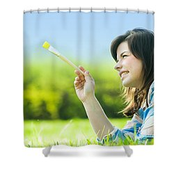 Painting The World Shower Curtain by Michal Bednarek
