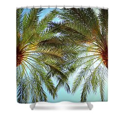 Pair Of Palms Vegas Style Shower Curtain