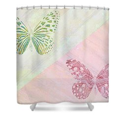 Pairs Of Wings Shower Curtain by Aged Pixel