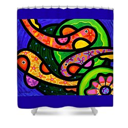 Paisley Pond - Horizontal Shower Curtain