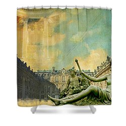 Palace And Park Of Versailles Unesco World Heritage Site Shower Curtain by Catf