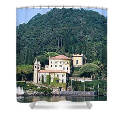 Shower Curtain featuring the photograph Palace At Lake Como Italy by Greta Corens
