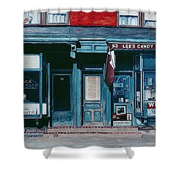 Palace Barber Shop And Lees Candy Store Shower Curtain by Anthony Butera